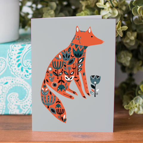 Fox Garden Card (with free postage)