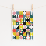 Load image into Gallery viewer, Midcentury Modern Geometrics No.1 Art Print