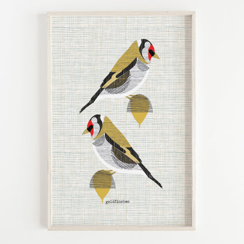 Goldfinch Pair Art Print