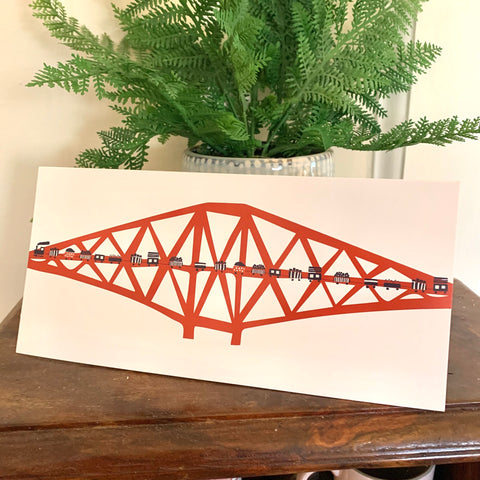 Forth Rail Bridge Card (with free postage)
