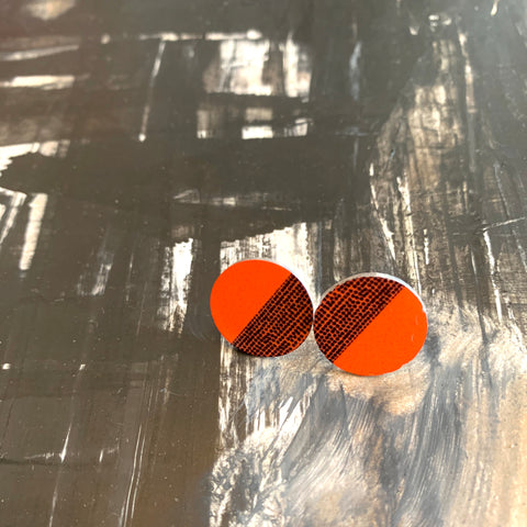 Balance Stud Earrings - Orange (New)