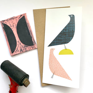 Love Doves Card (with free postage)
