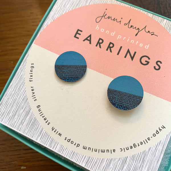 Balance Stud Earrings - Teal (New)