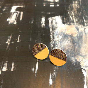 Balance Stud Earrings - Ochre (New)