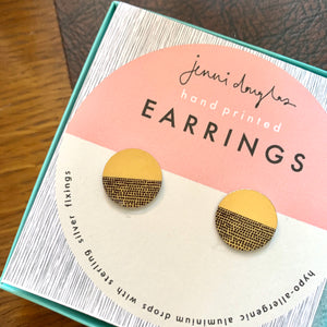 Balance Stud Earrings - Ochre
