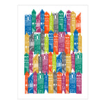 Load image into Gallery viewer, Edinburgh Cityscape Print (Rainbow)