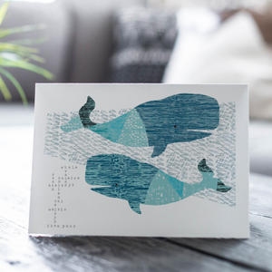 Whale Song Card
