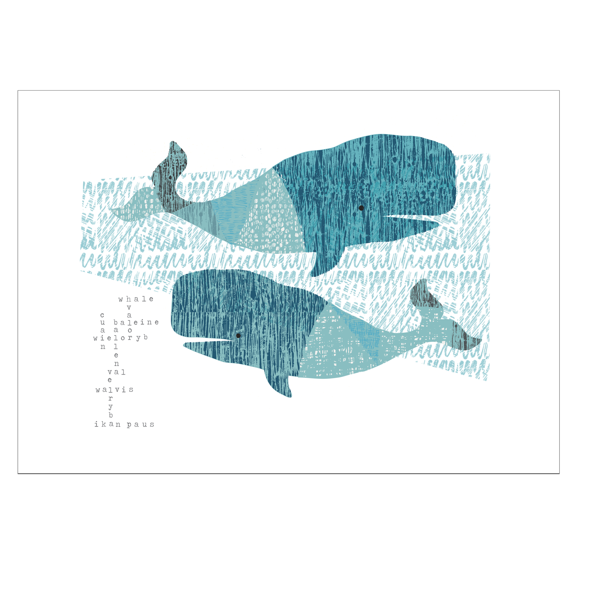 Whale Song Language Print
