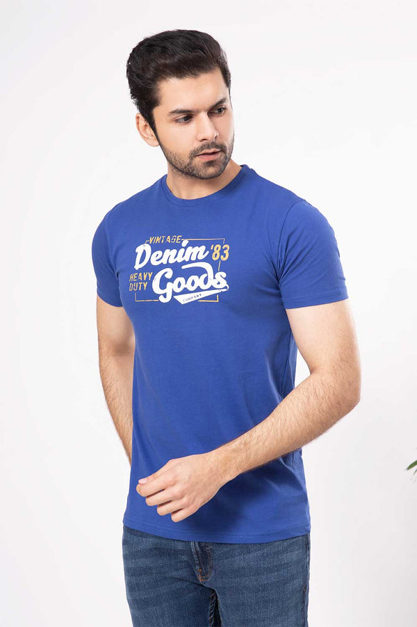 Royal Blue Crew Neck Shirt