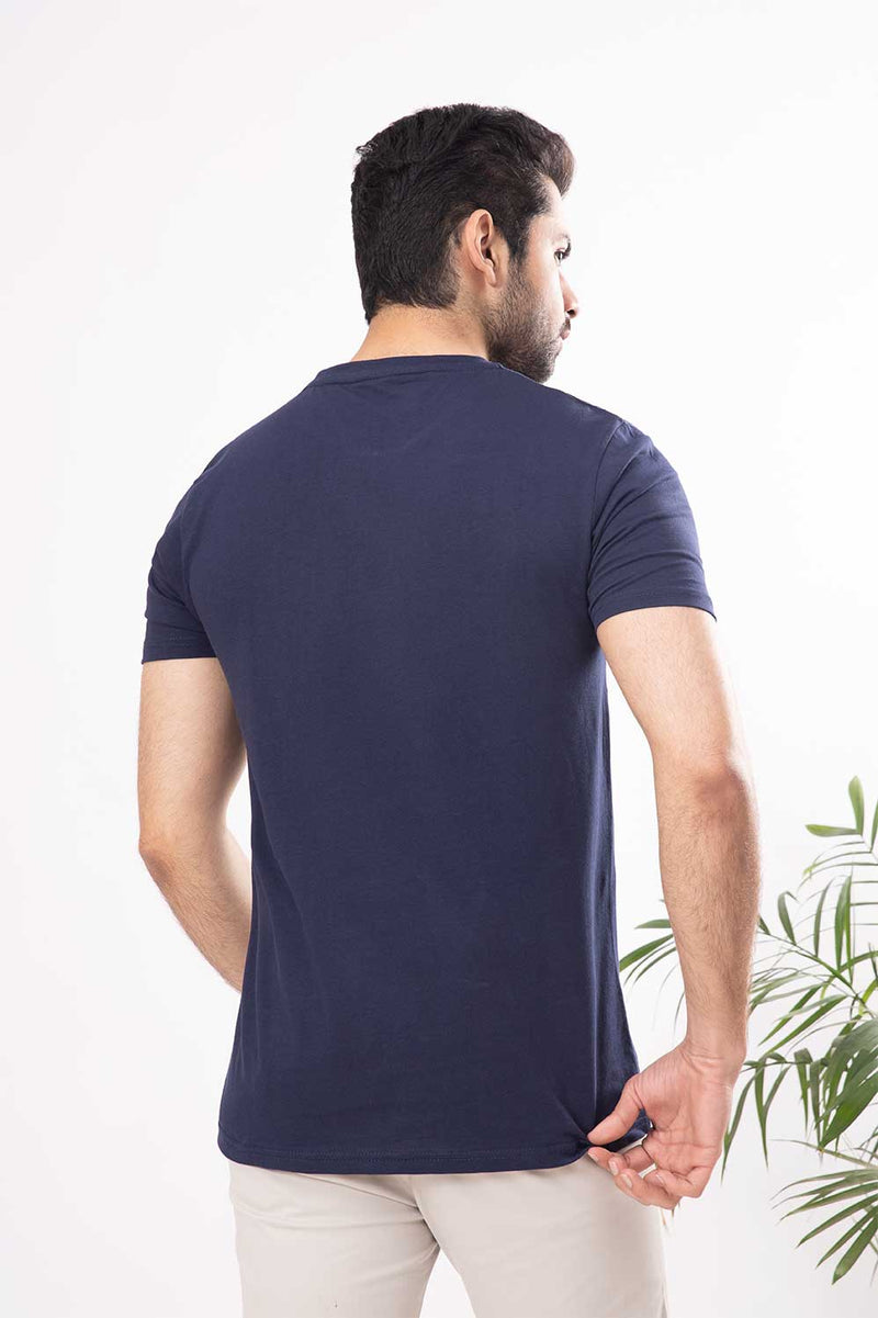 Dark Blue Crew Neck Shirt