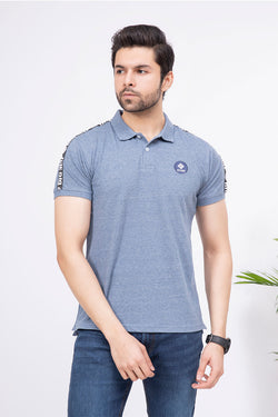 Light blue with Logo Polo Shirt