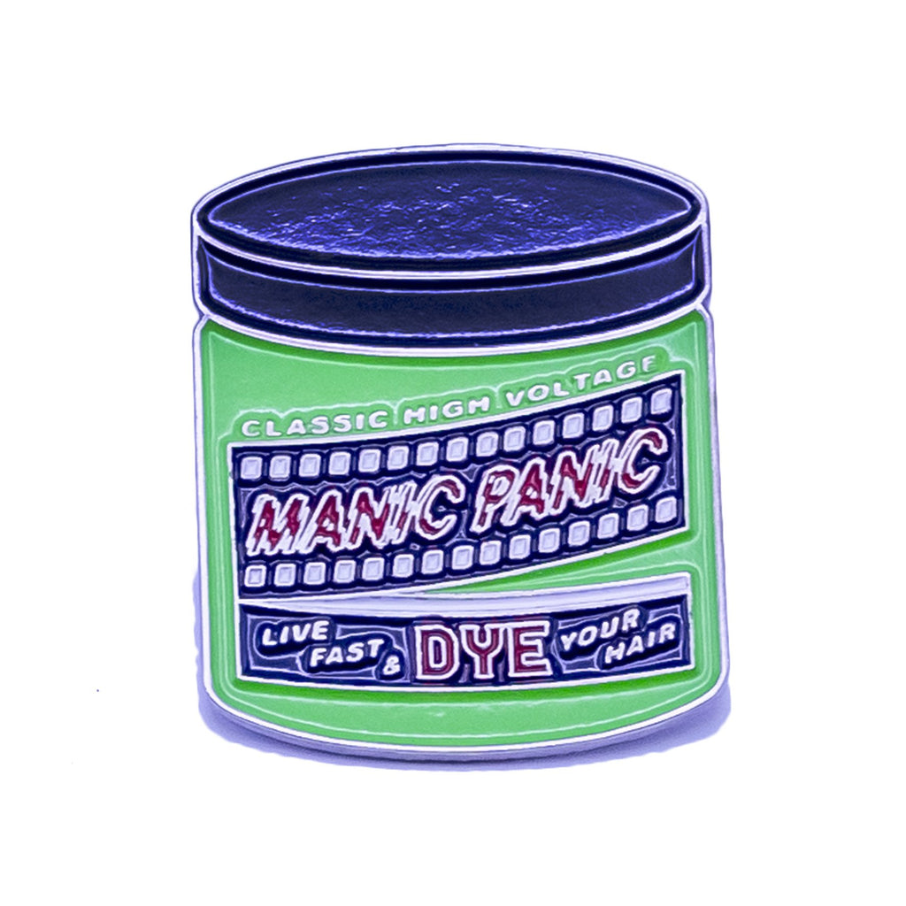 Manic Panic Classic Jar Enamel Pin - Electric Lizard