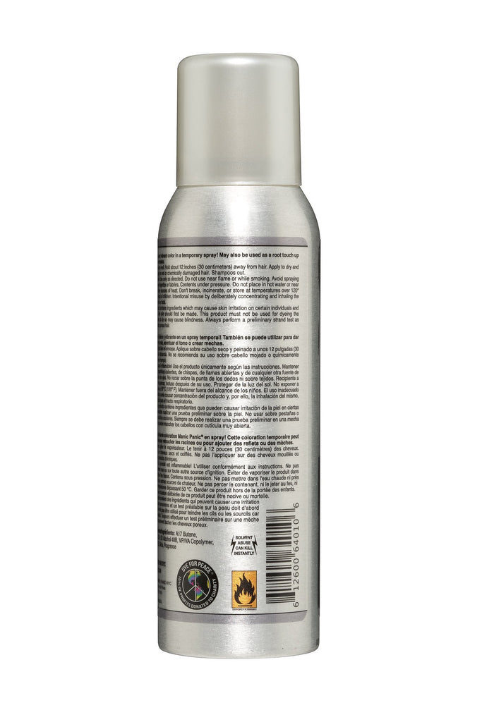 Color Spray Silver Stiletto™ - Amplified™ Temporary Spray-On Color and Root Touch-Up - Tish & Snooky's Manic Panic