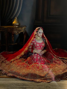 Red Silk Bridal /Custom order only