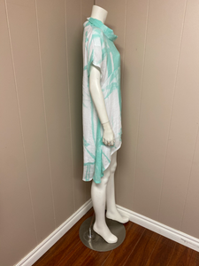 White/Green Gauze/Tunic/Top