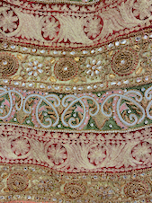 Bridal Lahenga with thread work and zardozi