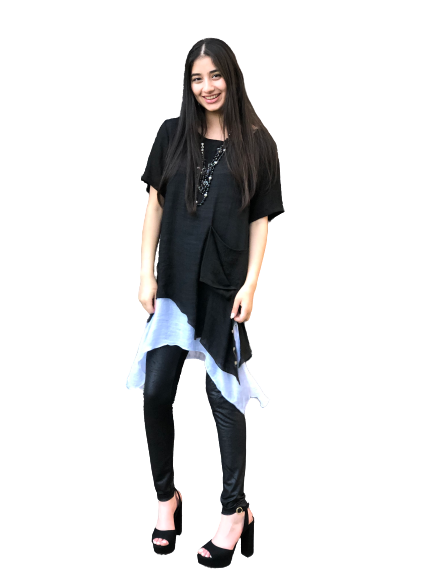 Black/White Trendy Tunic