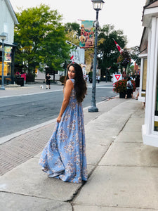 Printed Floral Dress/Gown