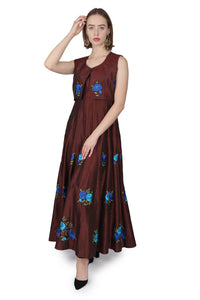 Brown floral/Jacket/Anarkali
