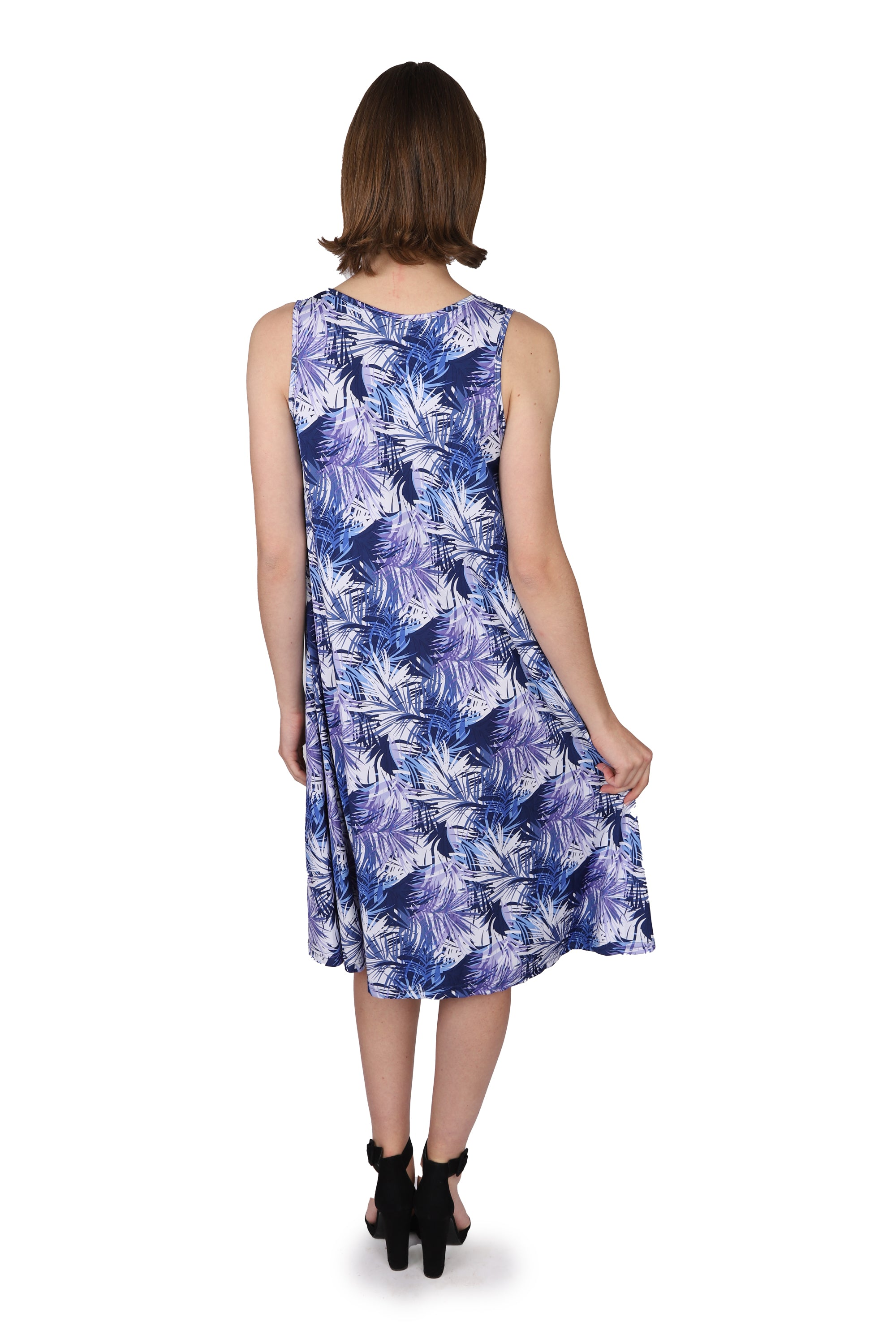 Abstract Blue Tunic Dress
