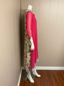Pink Kurta/tunic/high low