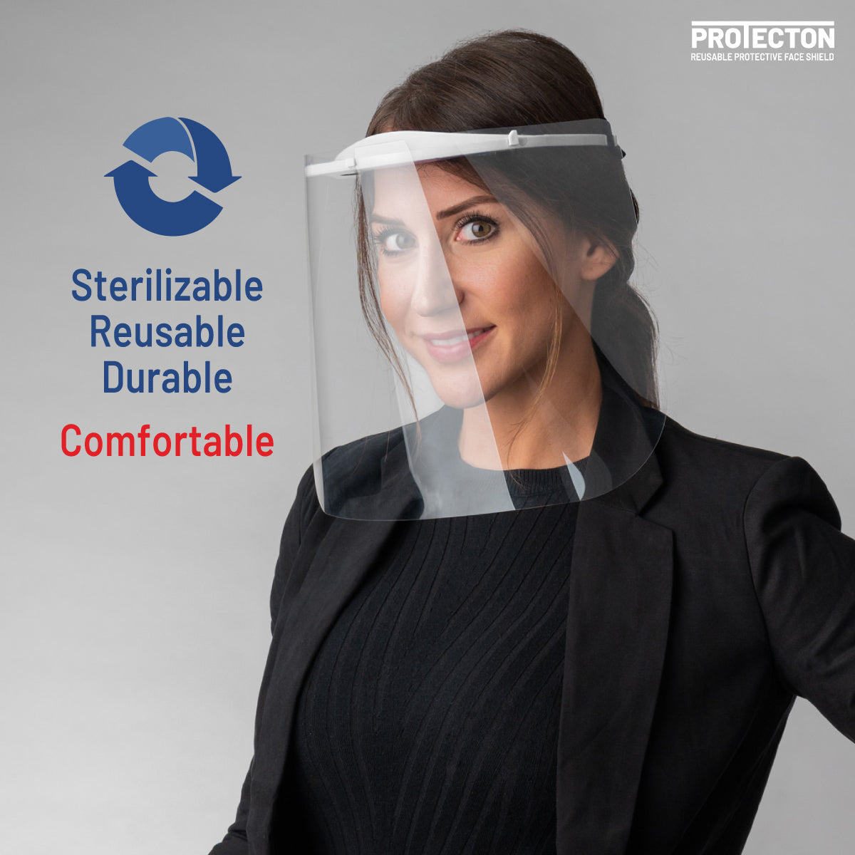 ProtectON Reusable Protective Face Shield