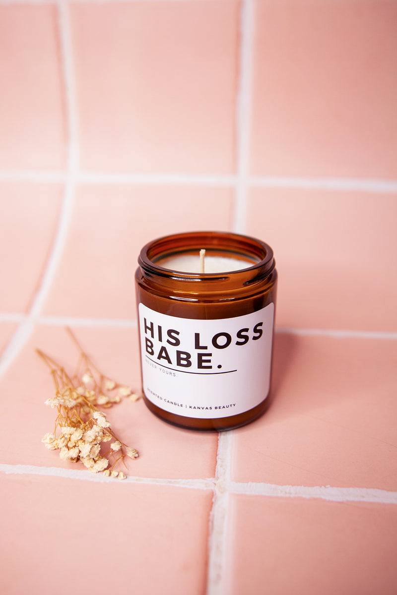 His Loss Babe, Never Yours - 3 Tier Scented Candle