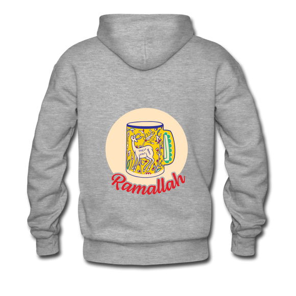 MPP x Ramallah Mug Hoodie (Red Logo) - heather gray