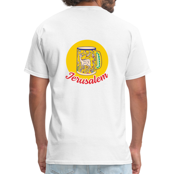 MPP x Jerusalem Mug T-Shirt (Red Logo) - white