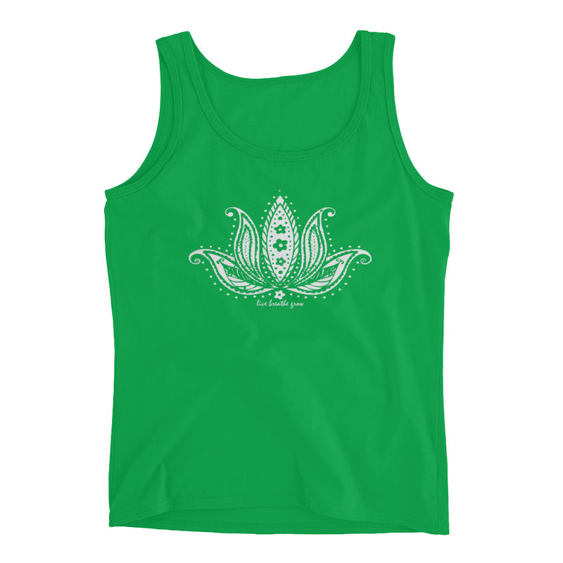 Live. Breathe. Grow. Fitted Tank