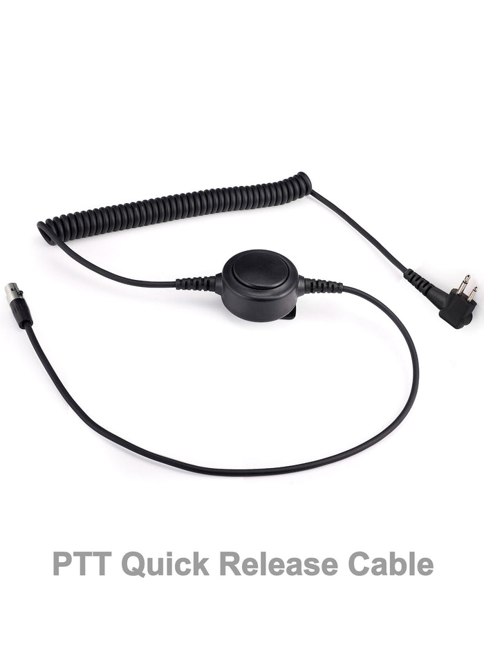 PTT Quick-Release Cable for Headset - Heavy Duty