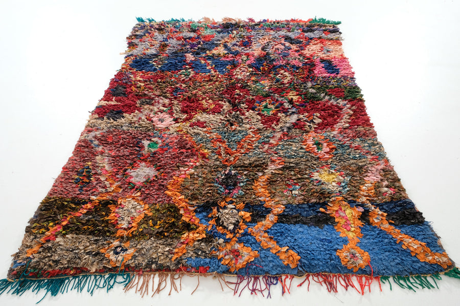 Boucharouite rug  5.90 ft x 4.36 ft - [All moroccan rugs]