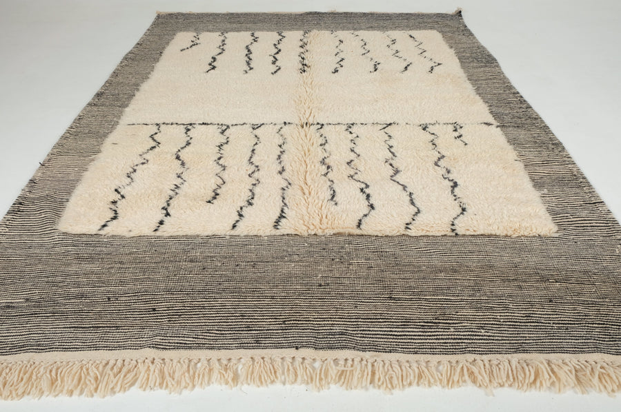 Beni Ouarain rug 9.84 ft x 6.39 ft - [All moroccan rugs]
