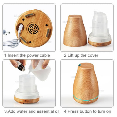 Ultrasonic Air Humidifier Essential Oil
