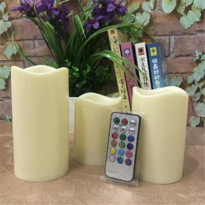 Colorful Remote Control Candle Light