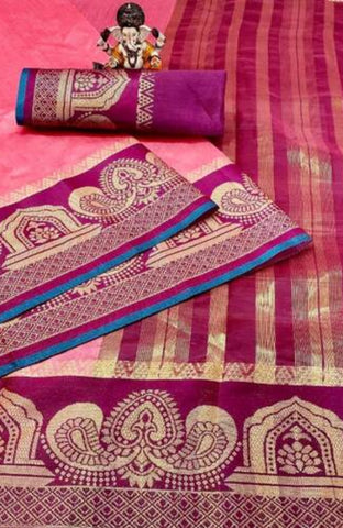 Beautiful Cotton Saree with Blouse piece