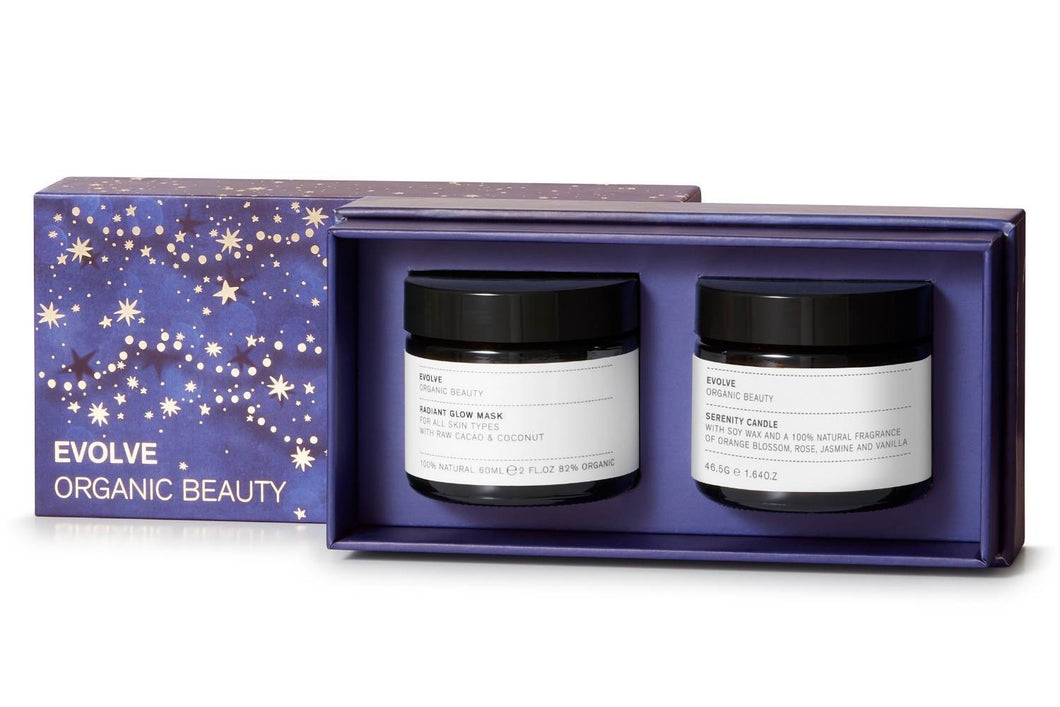 Evolve Organic Beauty Skincare Candlelight Glow Collection