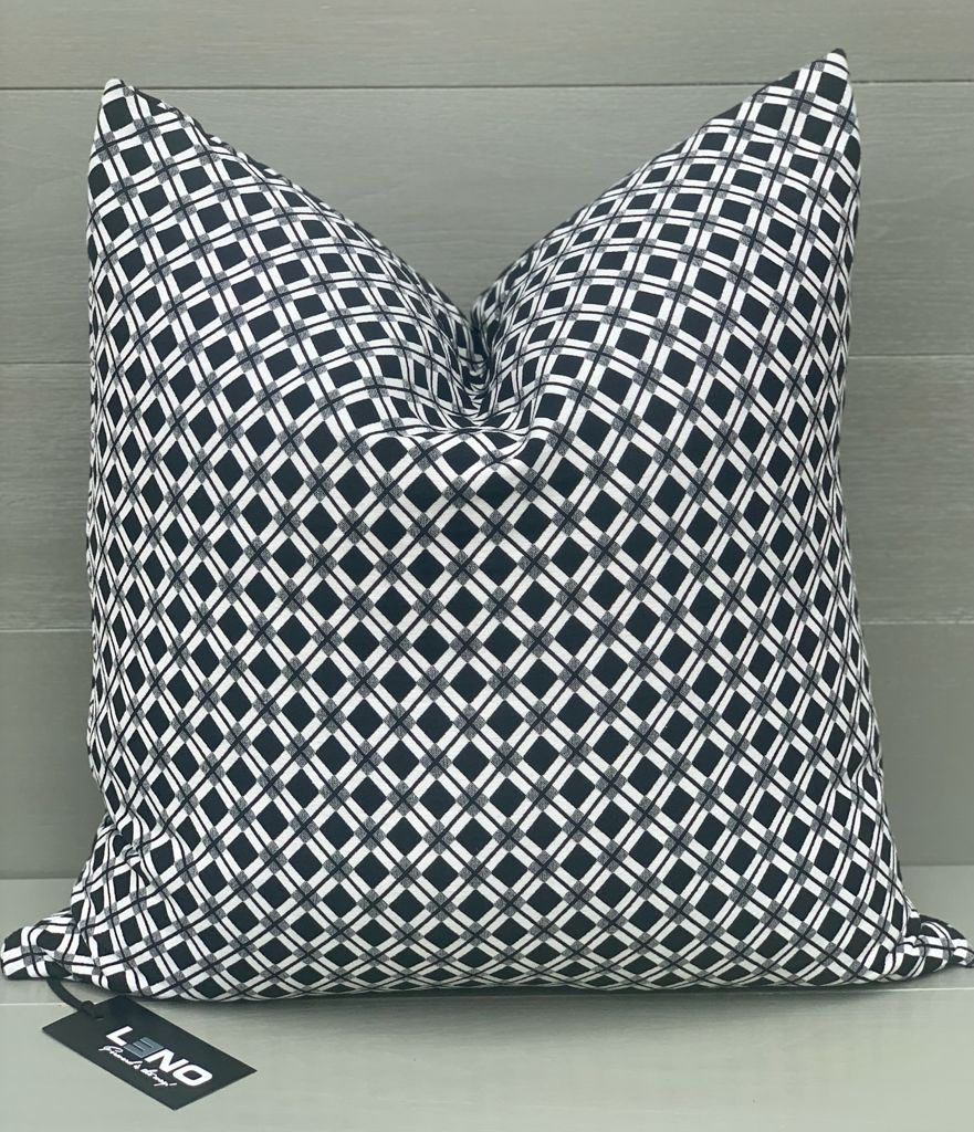 Black and White Patterned Scatter Cushion