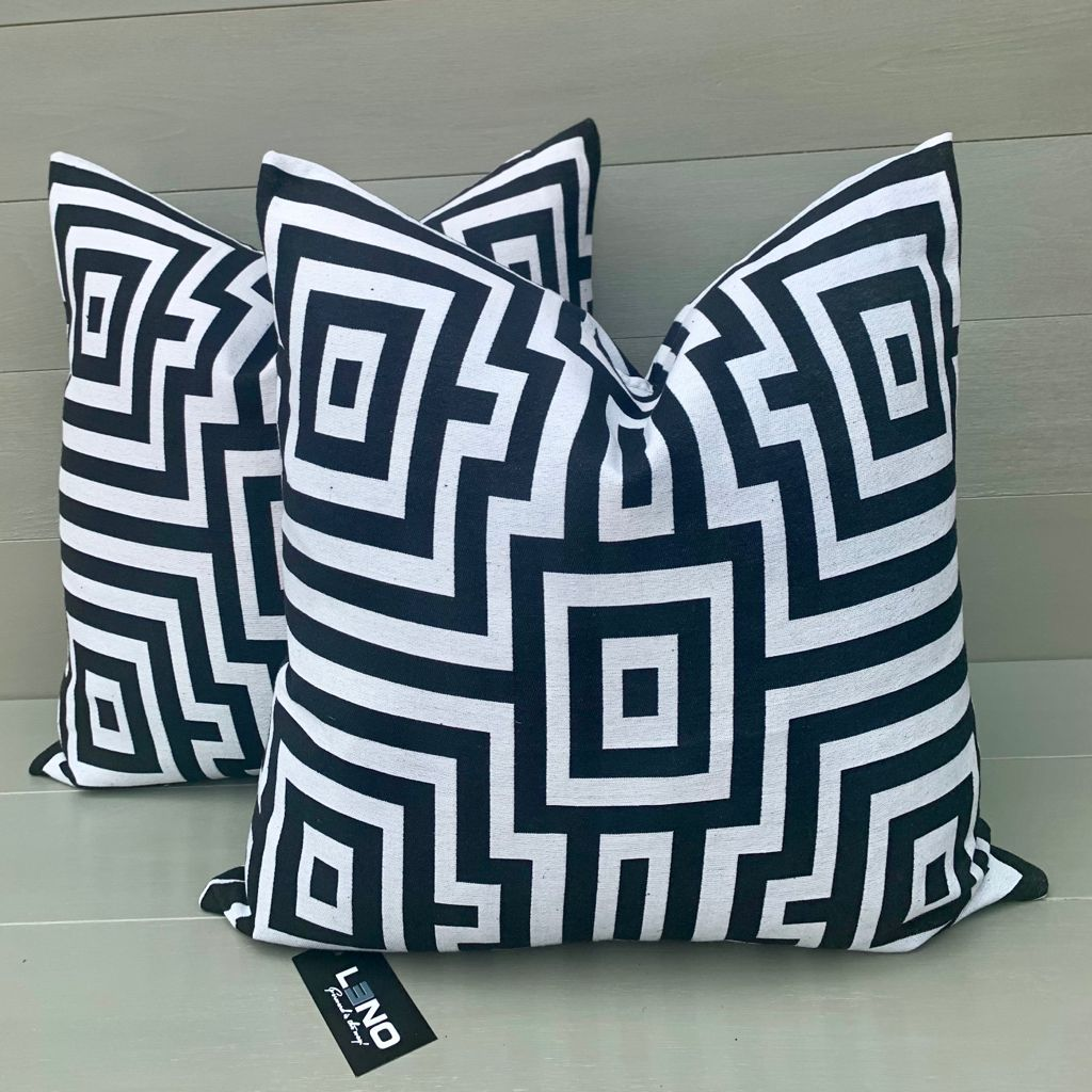 Black and White Scatter Cushion