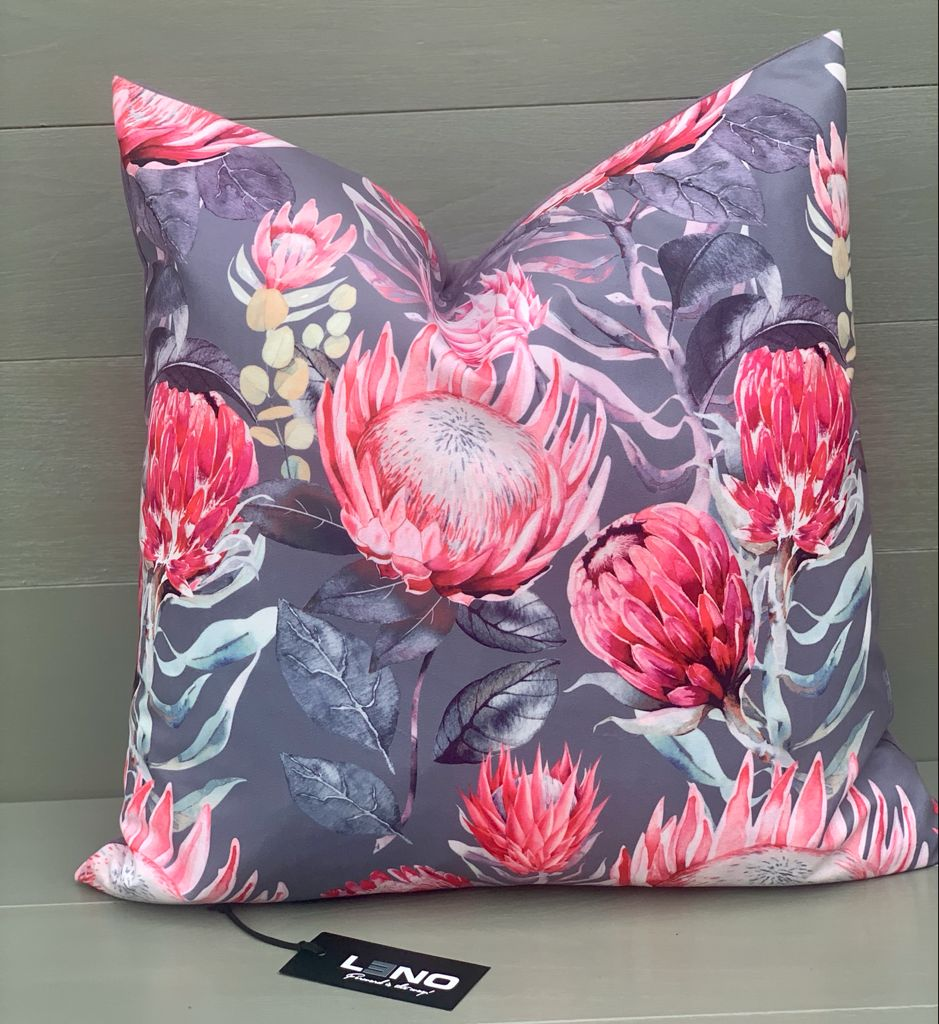 Grey Protea Scatter Cushion