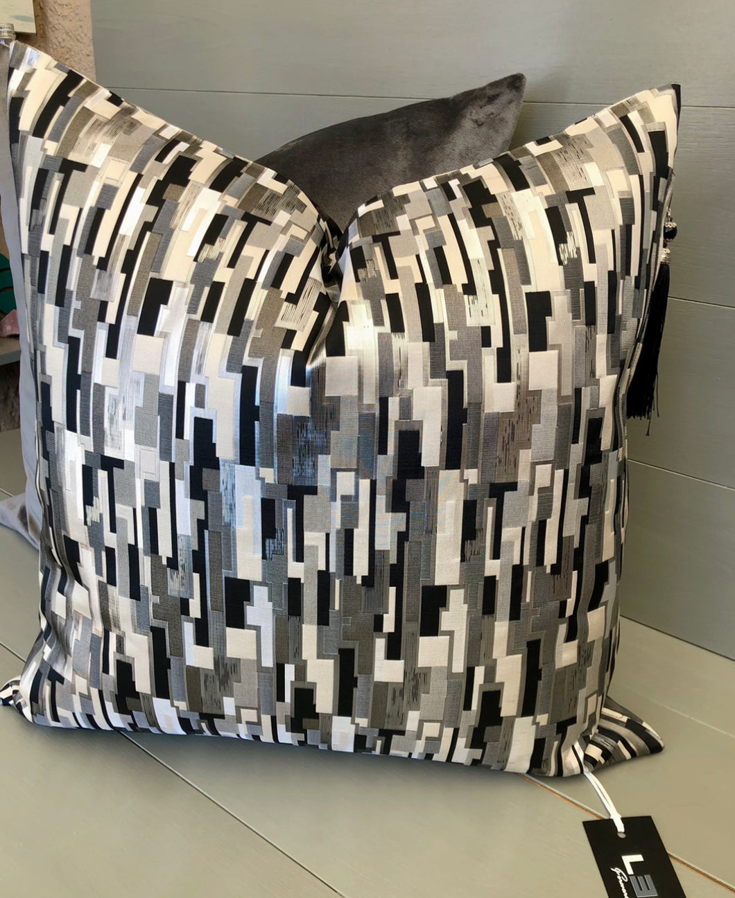 Black White and Grey Scatter Cushion