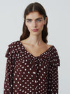 Give The Cold Shoulder Polka Dress