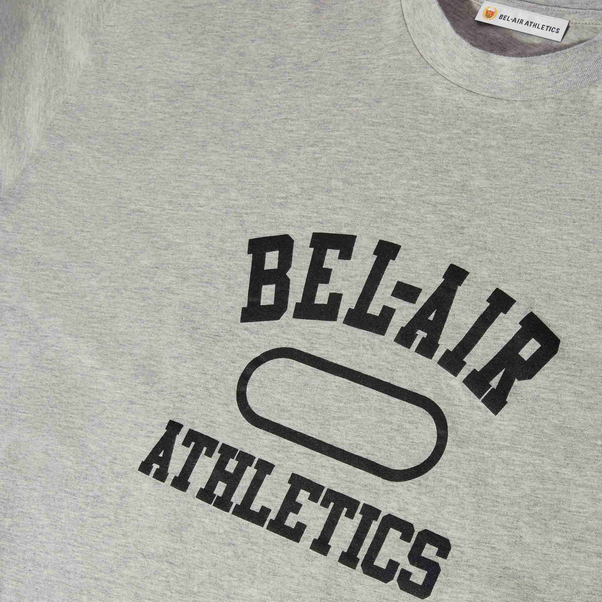 Gym Logo T-Shirt - Athletic Grey with Vintage Black print