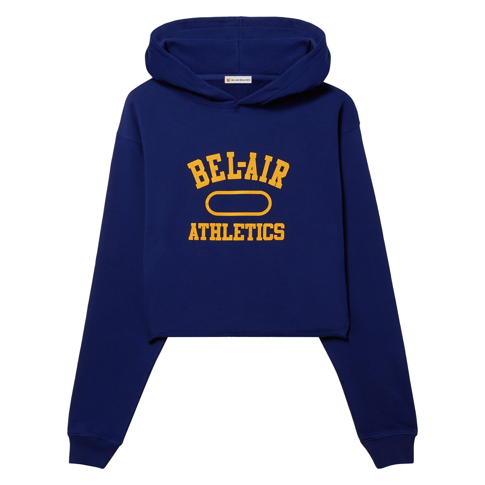 Gym logo cropped hoodie - Bel-Air Blue with Collegiate Gold print