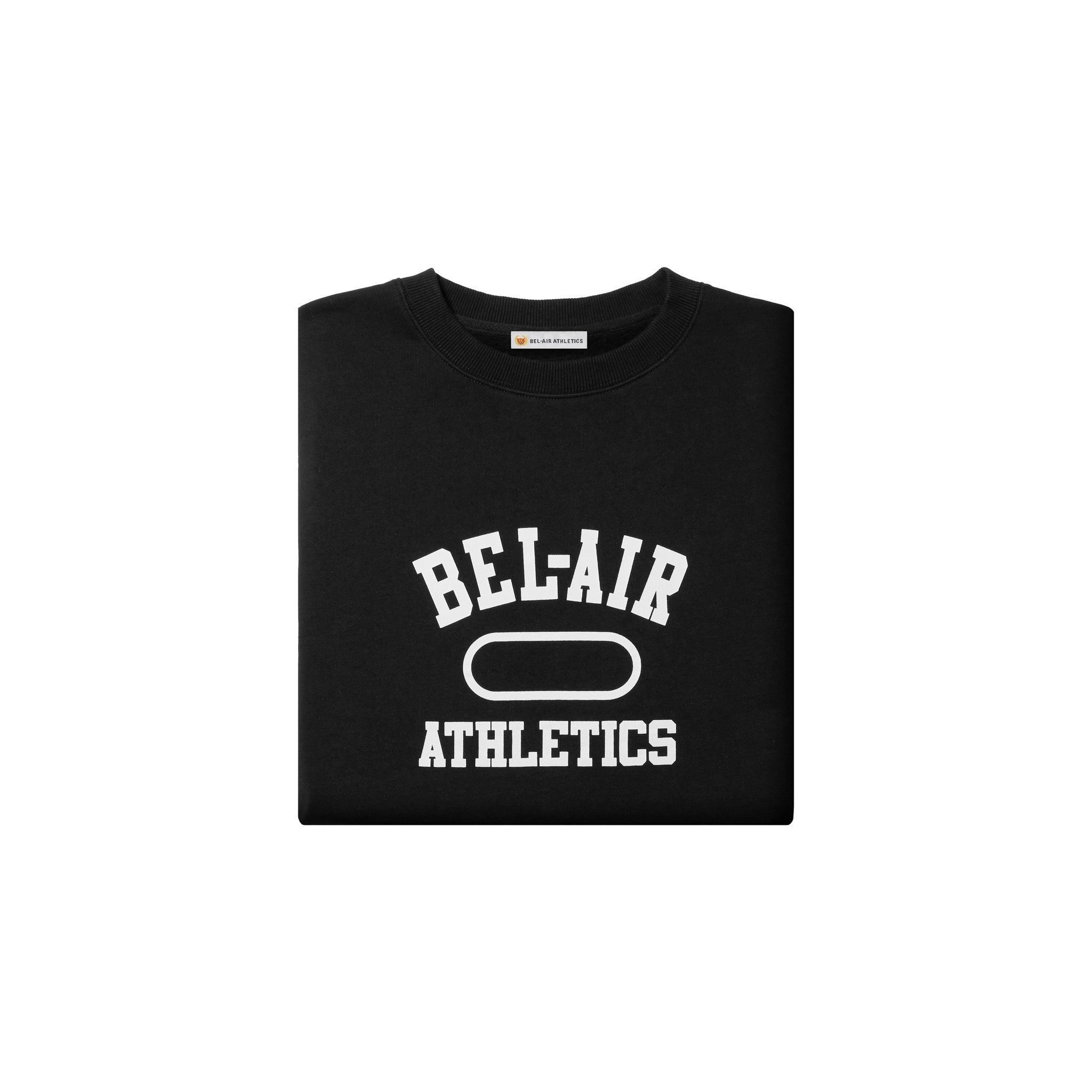 Gym Logo Cropped Crew Neck - Vintage Black+Chalk White print