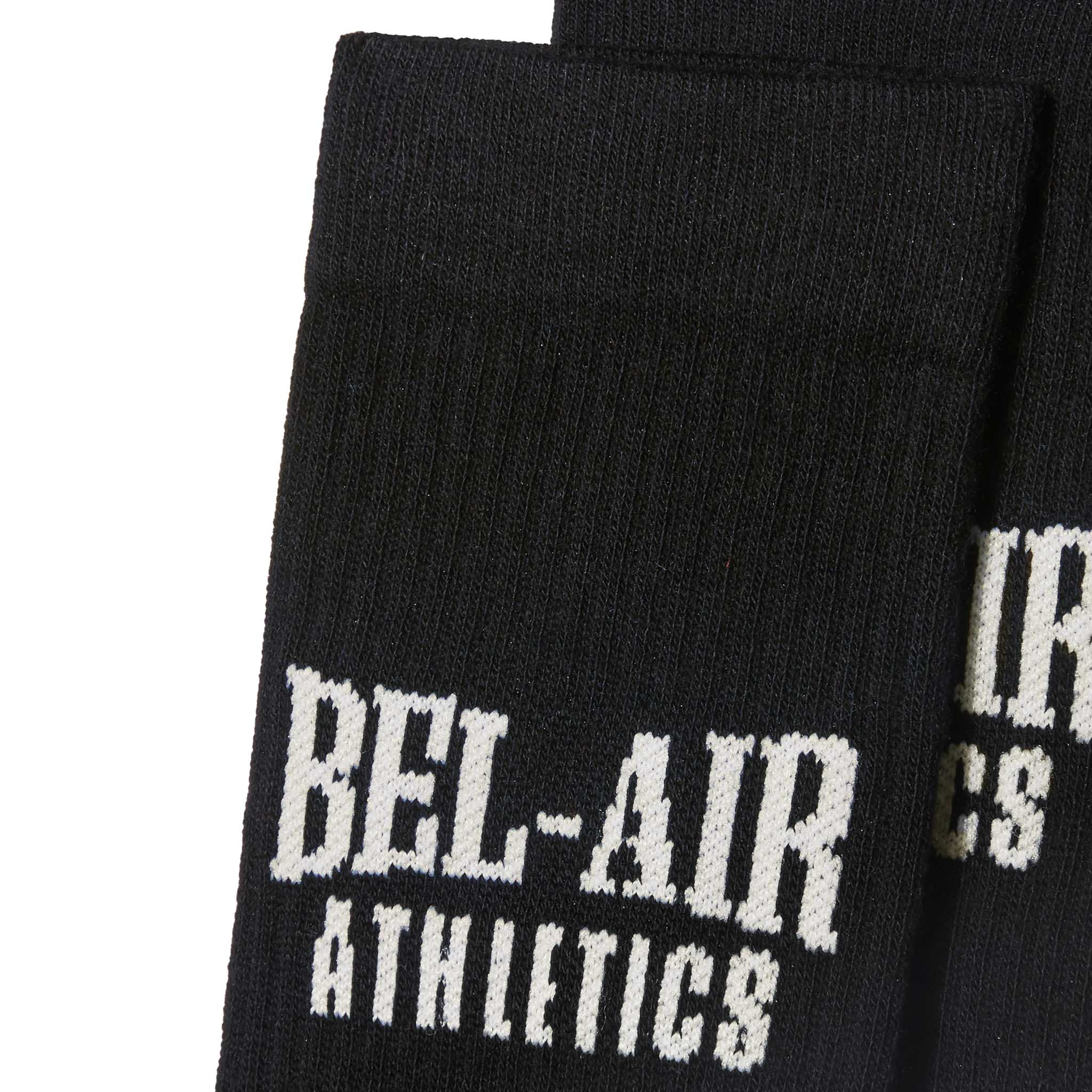 Bel Air Athletics Socks - Vintage black with Chalk White jacquard