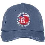 Stand For Flag - Kneel For Cross - Distressed Cap