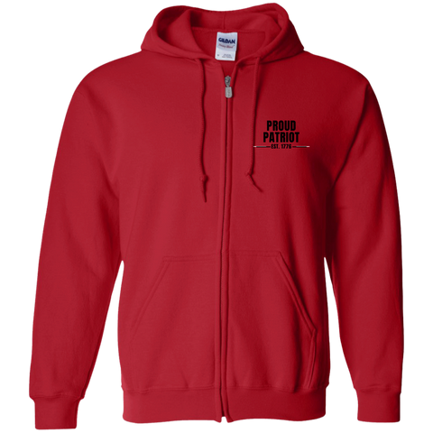 Proud Patriot - Zip Up Unisex Hoodie