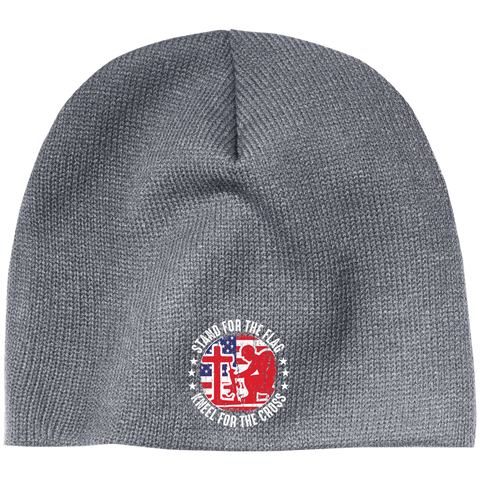Stand For The Flag Kneel For The Cross - 100% Acrylic Beanie