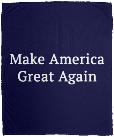 Make America Great Again -  Cozy Plush Fleece Blanket - 50x60